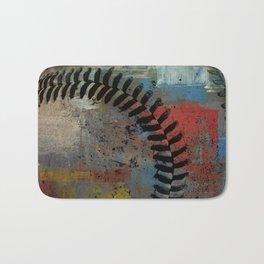 Painted Baseball Bath Mat
