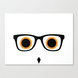 Hipster Owl No.5 Canvas Print