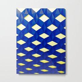 Trapez 2/5 Blue & Yellow by Brian Vegas Metal Print
