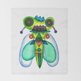 Dragonfly Moth Throw Blanket