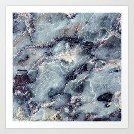 Blue Bayou Marble Art Print