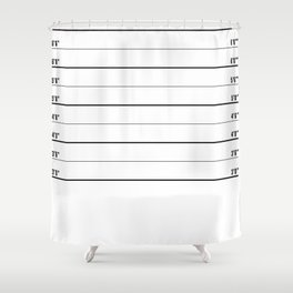 Police line up, usual suspects   shower curtain/bed cover Shower Curtain