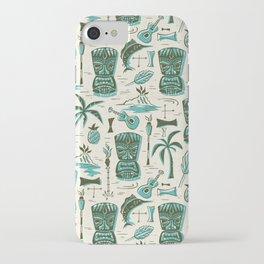 Tropical Tiki - Cream & Aqua iPhone Case