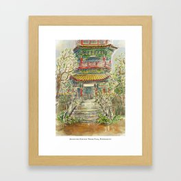 Abandoned Pagoda Framed Art Print