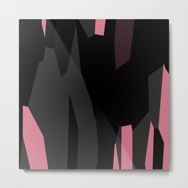 Pink Black and Gray abstract 54 Metal Print