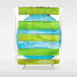180818 Geometrical Watercolour 5 Shower Curtain
