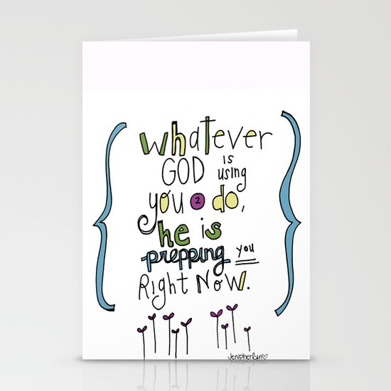 God's Prepping You Stationery Cards