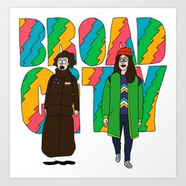 Broad City - Mushrooms Art Print