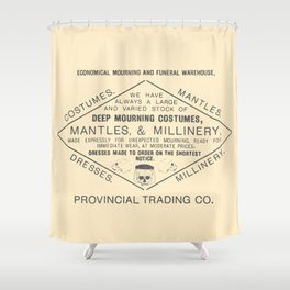 Economical Mourning and Funeral Warehouse Shower Curtain