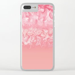 Coral Storm Clear iPhone Case