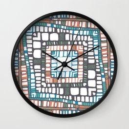 Squared layers No.2 Wall Clock