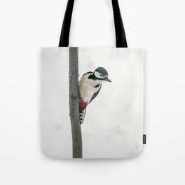 Knock, knock. Who's There? Woodpecker! Tote Bag
