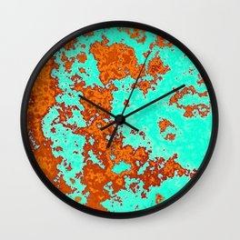 Infrared map Wall Clock