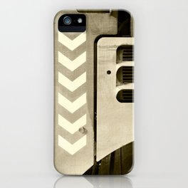 Road Roller Chevron 05 - Industrial Abstract iPhone Case
