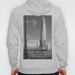 Travel The Universe Limited Edition mono print Hoody