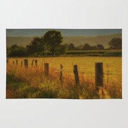 Landscape whit field Rug