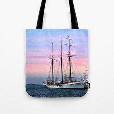 Tallship in Port Tote Bag