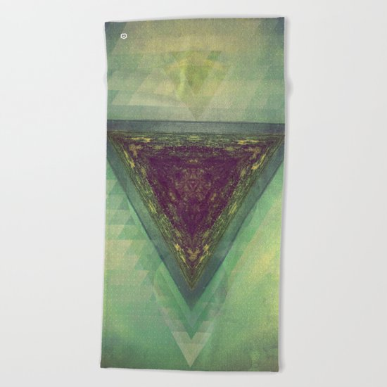 TRYY SKYY Beach Towel