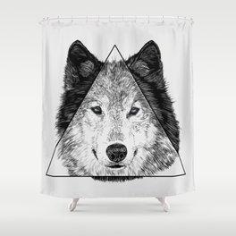 Trinity Wolf Shower Curtain