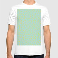 Yellow Pit on Mint /// www.pencilmeinstationery.com MEDIUM White Mens Fitted Tee