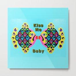 Gem Stone Fish, Kiss Me Baby Metal Print