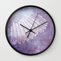 wings Wall Clocks featuring WINGS by INA FineArt