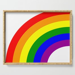 LGBT Gay Matching Couple Half Rainbow Serving Tray