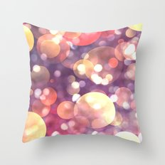 Glitter atmosphere Throw Pillow