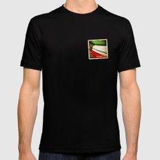 Grunge sticker of Kuwait flag Mens Fitted Tee MEDIUM Black