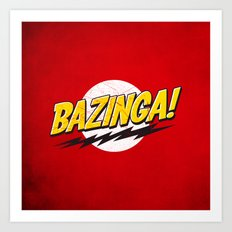 Bazinga Flash Art Print