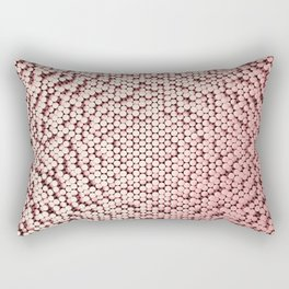 Pattern of red brushed metal cylinders Rectangular Pillow