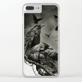 Corvidae Clear iPhone Case