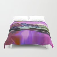 river Duvet Covers featuring River by Asya Solo
