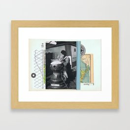Delta —•• Framed Art Print