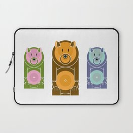 Bear With The Mod Target Belly Laptop Sleeve