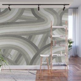 Retro Beige/Greige Stripe Pattern Wall Mural