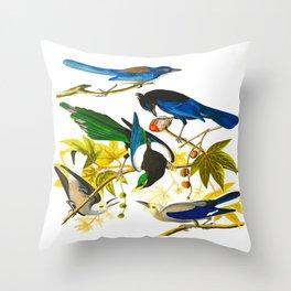 Yellow-billed Magpie Bird Throw Pillow
