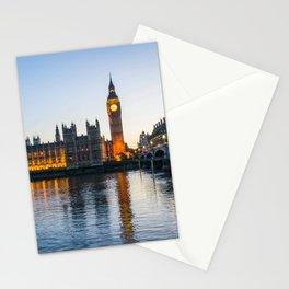 Big Ben During Sunset | London England Europe Cityscape Night Photography Stationery Cards