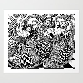 Traveler Dancers Art Print