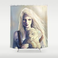 wind Shower Curtains featuring Wind by Ana Paula Azevedo
