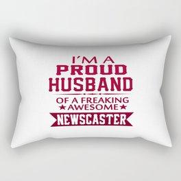 I'M A PROUD NEWSCASTER'S HUSBAND Rectangular Pillow
