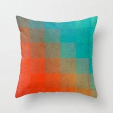 Beach Pixel Surface Throw Pillow