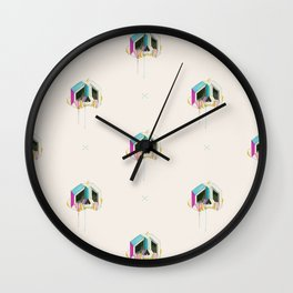 Sugarcube skull Wall Clock