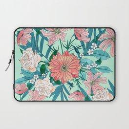 Boho chic spring garden flowers illustration Laptop Sleeve