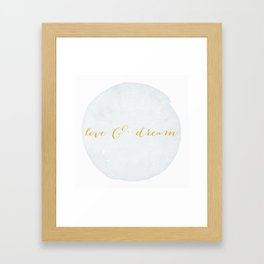 Love & Dream my boy Framed Art Print