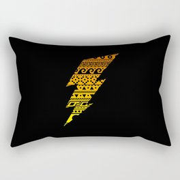 Thunderbolt Black Rectangular Pillow