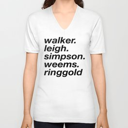 WOC curators and artists (white version) Unisex V-Neck