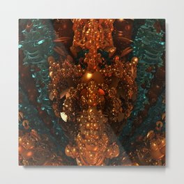 Darkstar Orange Black Metal Print