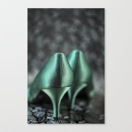 Green Shoes Canvas Print