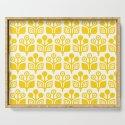 Mid Century Garden Flower Pattern Yellow by tonymagner